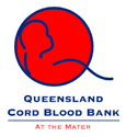 Queensland Cord Blood Bank at the Mater Logo